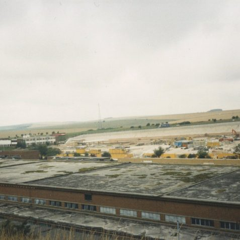 View from KTM rear car park, winter 1986/1987 | Photo by Hugh Fermer, now in the private collection of Peter Groves