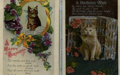 1920s Birthday Postcards