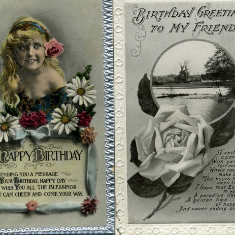 1920s Birthday Postcards | From the private collection of Dennis Parrett