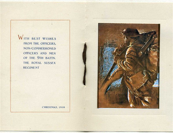 Christmas card 1918 | From the private collection of Dennis Parrett