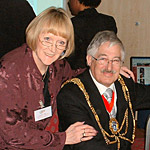 Jennifer pictured with Councillor Bob Carden recent Mayor of Brighton, and contributor to www.mybrightonandhove.org.uk | From a private collection