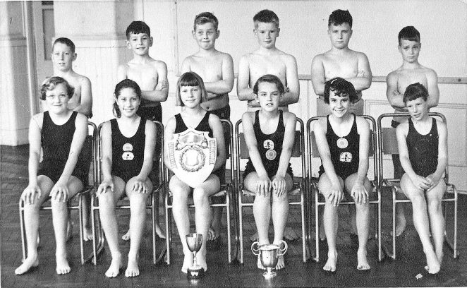Ditchling Road Swim Team 1958 | From the private collection of John Horn