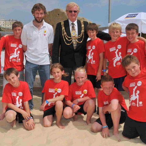 The 'Spanish' team with The Mayor, Councillor Geoff Wells | Photo by Tony Mould