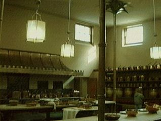 Photo of the Royal Pavilion kitchens