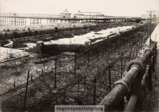 The seafront, showing here the children's paddling pool, was mined an wired off in anticipation of a German invasion | Image reproduced with kind permission of The Regency Society and The James Gray Collection