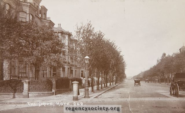 The Drive, Hove c1908 | Image reproduced with kind permission of The Regency Society and The James Gray Collection