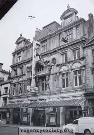 Paris cinema New Road awaiting demolition in 1963 | Image reproduced with kind permission of The Regency Society and The James Gray Collection