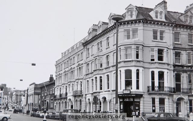 The eastern end of Church Street in November 1972, when the corner building at the junction with Marlborough Place was the headquarters of Radio Brighton. | Image reproduced with kind permission of The Regency Society and The James Gray Collection