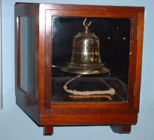 Photo: Tony Drury by kind permission of Brighton & Hove Council   Replica of the Ship's Bell - this is on display in the King Alfred Leisure Centre.