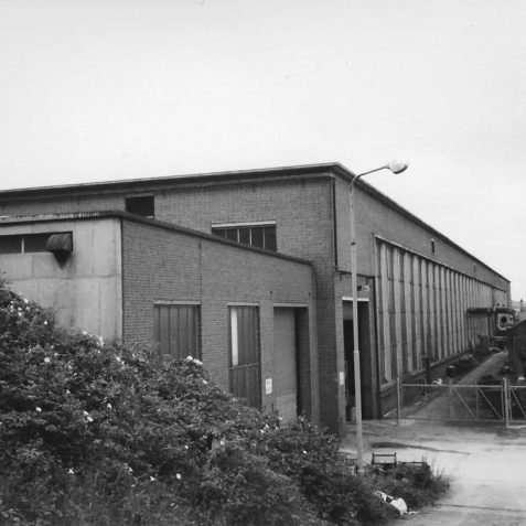 KTM No 6 Factory Hollingbury Brighton c. 1985   Photo by Hugh Fermer, now in the private collection of Peter Groves