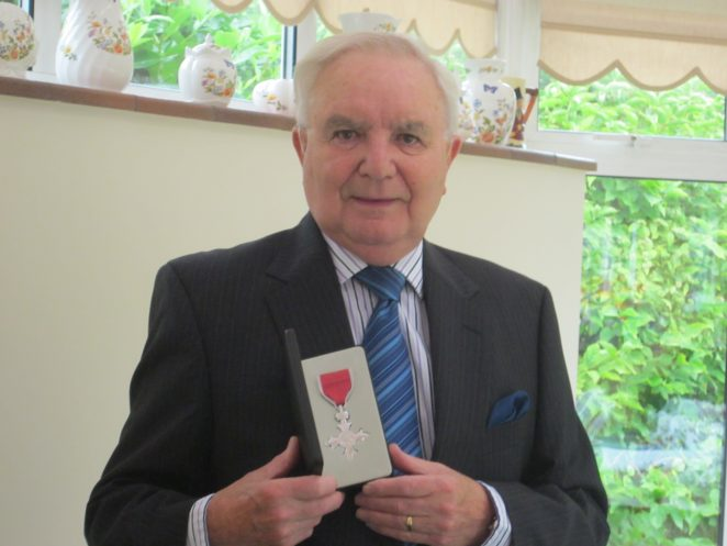 Ken Ross with his MBE | From the private collection of Ken Ross