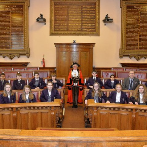 King's School students visit the Town Hall | Photo by Tony Mould