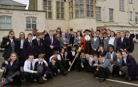 Mayor's visit to King's School
