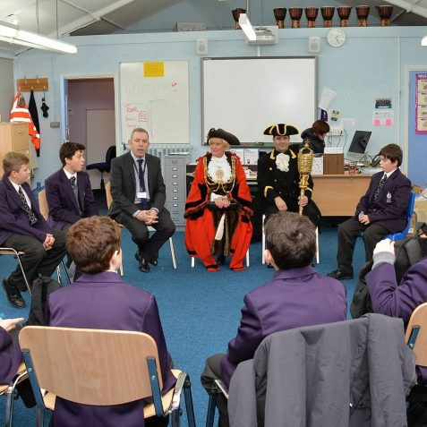 Mayor's visit to King's School | Photo by Tony Mould