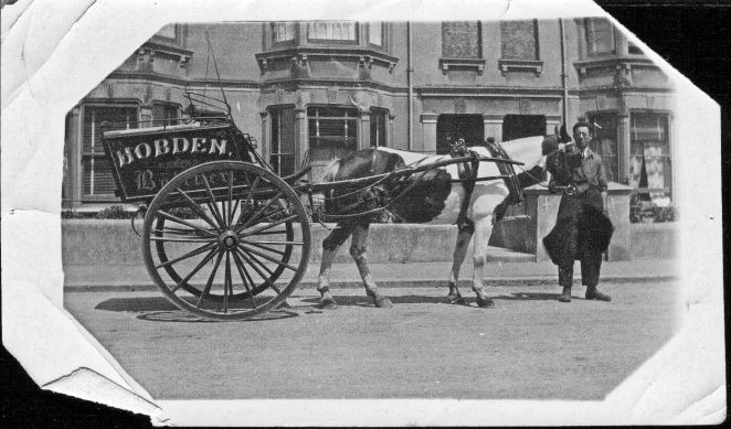 Delivery cart of Hobden's Butchers. | From the private collection of Alan Hobden