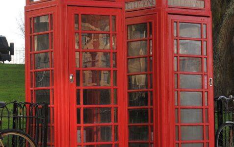 K6 style telephone kiosk: Powis Square