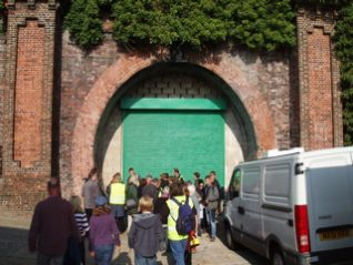 Friends gather at the entrance to the Kemp Town Railway Tunnel | Tony Simpson