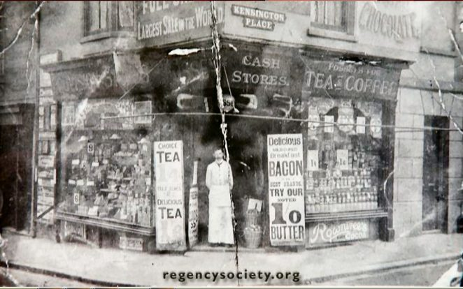 Grocers shop photographed in 1906 | Image reproduced with kind permission of The Regency Society and The James Gray Collection
