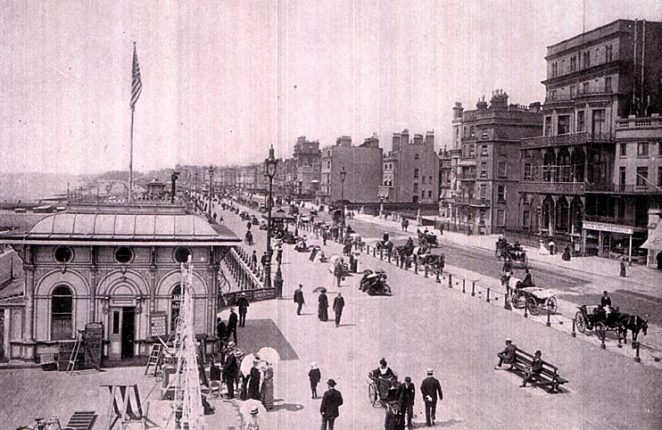 A photograph of Kings Road, Hove Parade | Scanned from an original copy of '67 Views of Brighton, Hove and Neighbourhood', circa 1910, by kind permission of David Burgess