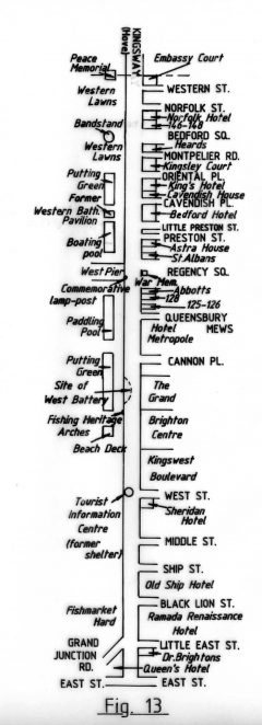 Sites of interest in King's Road | Reproduced with permission from the Encyclopaedia of Brighton by Tim Carder, 1990