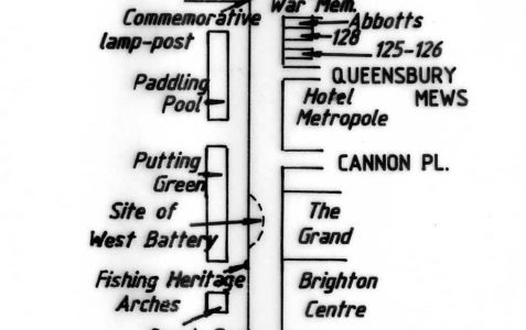 Map of sites and buildings of interest
