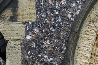 Knapped flint: St Nicholas's Church detail | Photo by Tony Mould