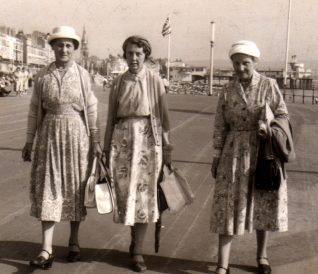 Margery (centre) in Weymouth in 1959 | Contributed to Letter in the Attic by Liz Thomas