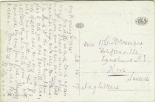 Postcard from William (Billy) Brooman | Contributed to Letter in the Attic by John Payne