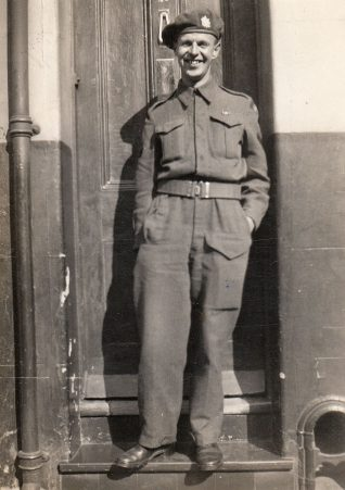 Jack Bilton, Queens Own Canadian Rifles, outside 49 Ashton Street, Brighton | Contributed to Letter in the Attic by Beryl Tucknott