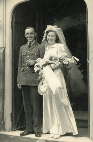 Edward Nicklen on his wedding-day, 1941 | Contributed to Letter in the Attic by Edward Nicklen