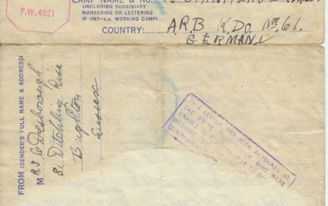 Letter to Albert Stanford, 1945
