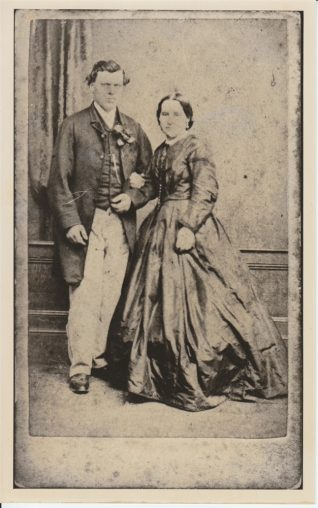 Photo of Alfred Sinden and Sarah Sinden (née Hogg), c.1870 | Contributed to the Letter in the Attic by Mrs Michael Sinden