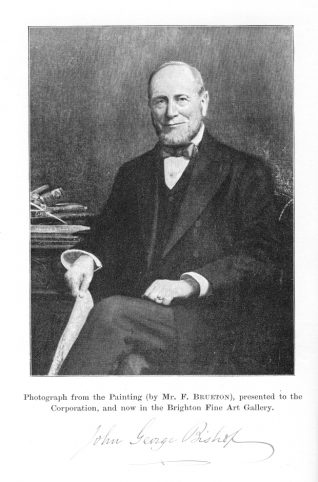 Photographic copy of autographed portrait of J.G.Bishop (frontispiece to souvenir book) | Contributed to the Letter in the Attic from the private collection of A.L. Grant