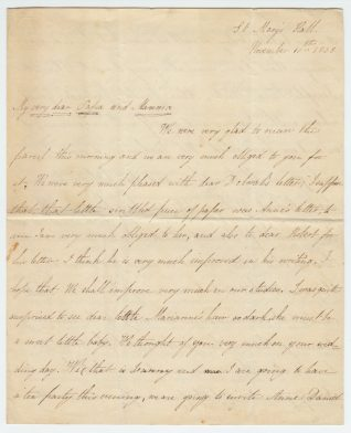 Letter from Sarah Alexander, November 1838 | Contributed to the Letter in the Attic by St Mary's Hall