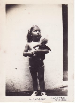 Margaret Rich aged 2 in Clifton Street, Brighton, 1935 | Contributed to Letter in the Attic by Margaret Rich