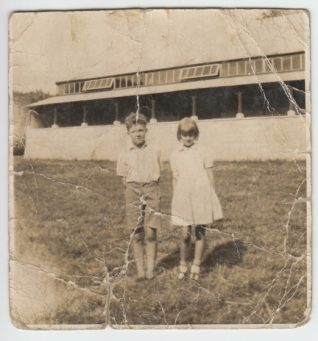 George Horrobin and Violet Baker as children, 1936 | Contributed to Letter in the Attic by Tricia Leonard