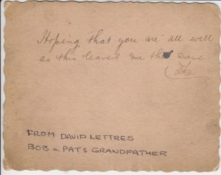 Reverse of postcard issued to British troops during the Boer War, 1900 | Contributed to the Letter in the Attic by Patrick Lettres