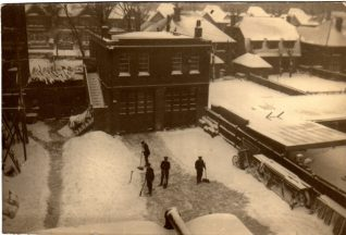 Hove Street Fire Station, Hove in the snow, 1940 | Contributed to Letter in the Attic by Darren Eaton