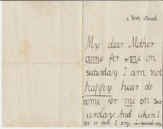 Letter from Muriel Jervis written to her mother, 1887 | Contributed to the Letter in the Attic by Francis Clark Lowes