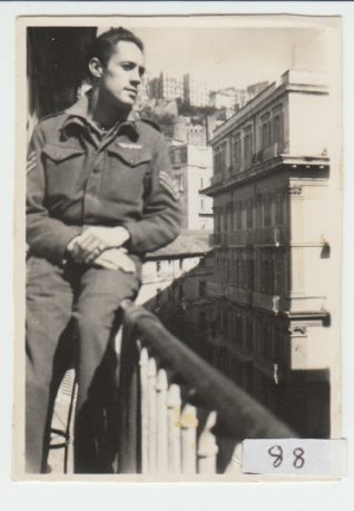 Photo of Robert Gregory in Naples, March 1946 | Contributed to the Letter in the Attic by Robert Gregory