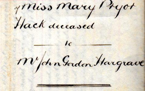 Conveyancing document, 6th Nov 1916