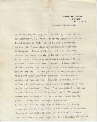 Letter from Jack Bethell stationed in Nigeria, 23rd Nov 1915 | Contributed to the Letter in the Attic by Eve Bracegirdle