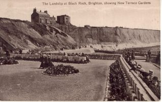 Front of a postcard from Annie Ross showing the landslip at Black Rock, 19th July 1917 | Contributed to the Letter in the Attic by Pauline Raymond