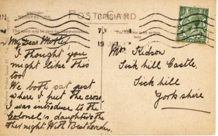 Reverse of a postcard from Annie Ross showing the landslip at Black Rock, 19th July 1917 | Contributed to the Letter in the Attic by Pauline Raymond