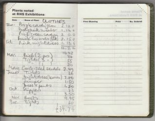List of clothing bought by Elaine Evans in 1971 | Contributed to the Letter in the Attic by Elaine Evans