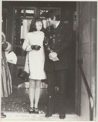 Wedding photograph of Elaine and Steve Evans, 1970 | Contributed to the Letter in the Attic by Elaine Evans