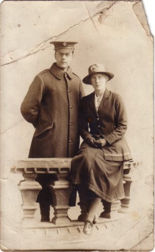 Photograph of Jack Leech and Amelia Rose Leech, c.1917 | Contributed to the Letter in the Attic by John Leech