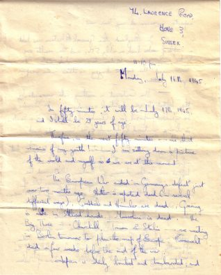 First page of letter by Gordon Harris. Click to see full-size. | From the Letter in the Attic collection