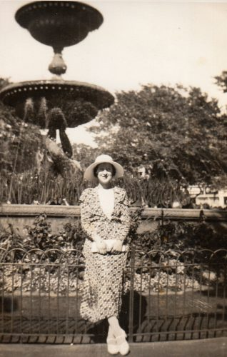 Photo of Hinda Harris in Old Steine gardens, 1936(?) | Contributed to Letter in the Attic by Sarah and Sophie Harris