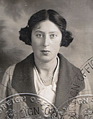 Photo of Hinda Harris from her passport of July 1936. | Contributed to Letter in the Attic by Sarah and Sophie Harris